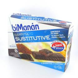 BIMANAN 8 BARRITAS CHOCOLATE NEGRO