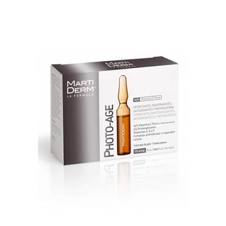MARTIDERM PHOTO AGE VITAMINA C 10 AMPOLLAS 2ML